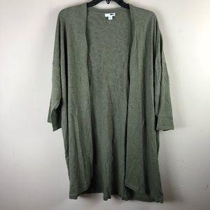 PureJill women's cardigan size XL open front olíve